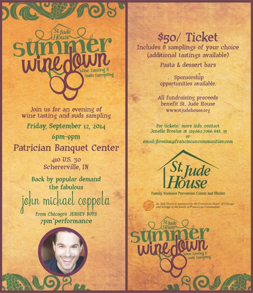 2014 Summer Wine Down Invitation - St. Jude House